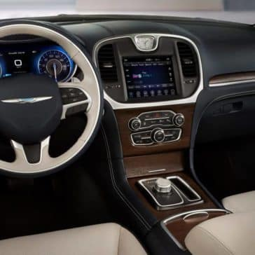 2018 Chrysler 300 driver's view - dash and steering wheel