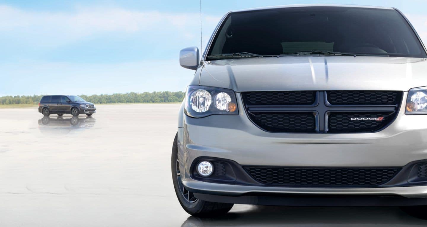 2018 Dodge Grand Caravan grille closeup