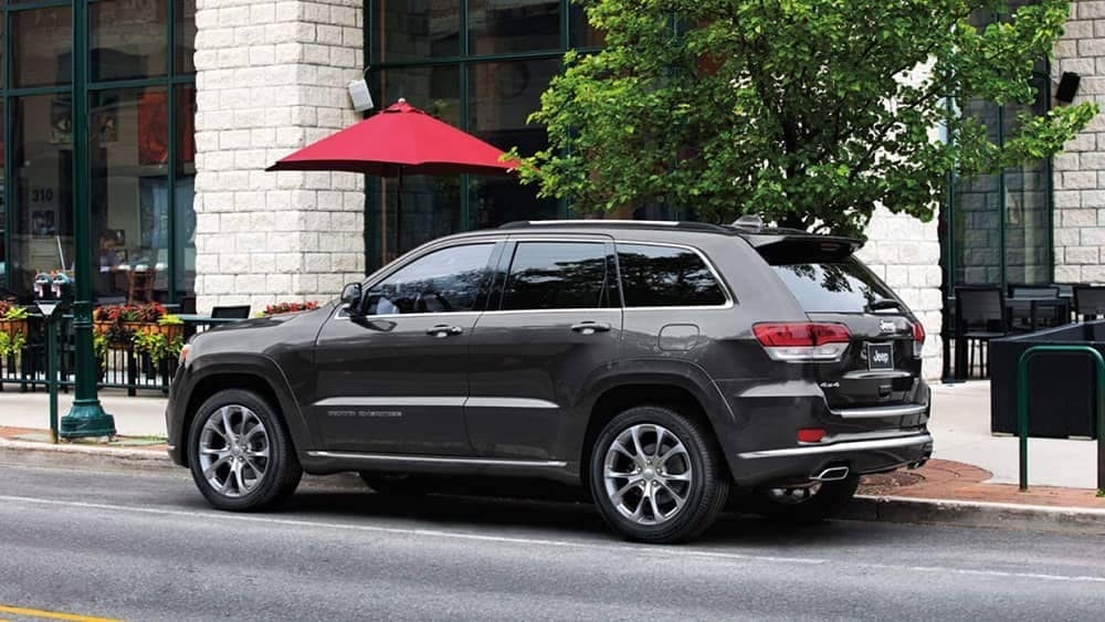 2019 Jeep Grand Cherokee by a charming cafe
