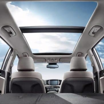 2018 Kia Sportage panoramic Sunroof view