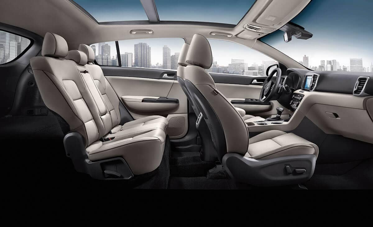 2018 Kia Sportage Interior Seating fromt he side