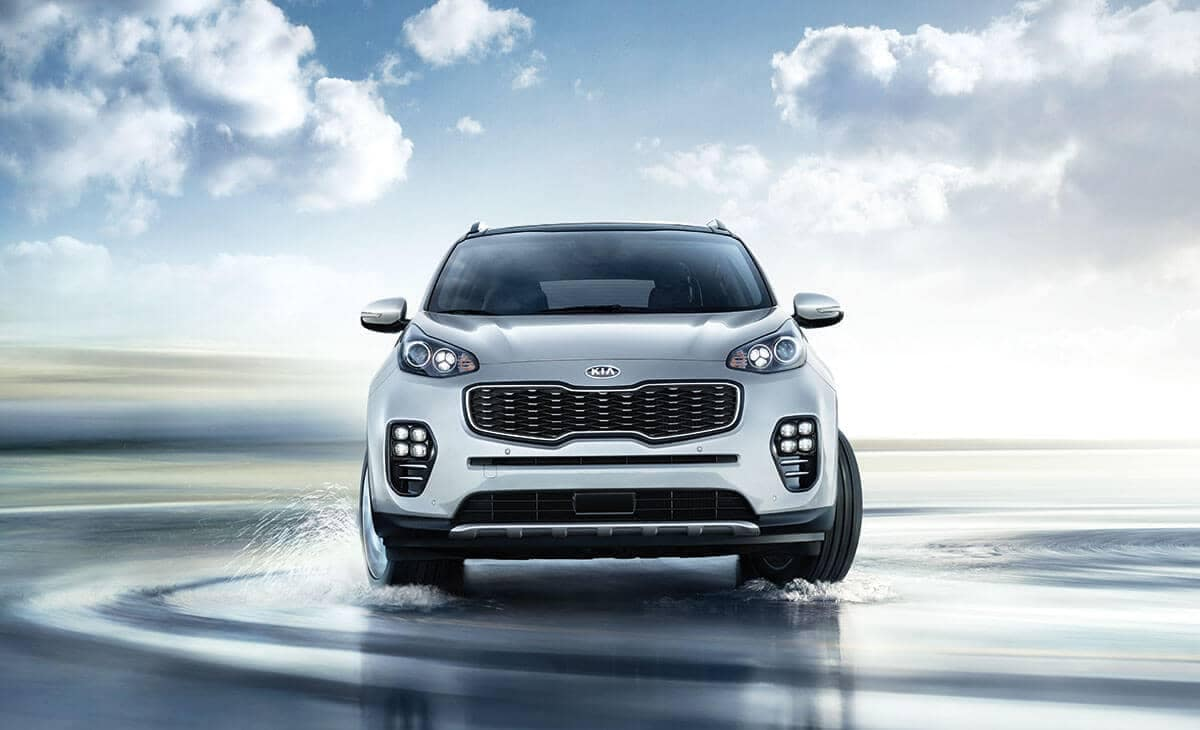 2018 Kia Sportage front view on water