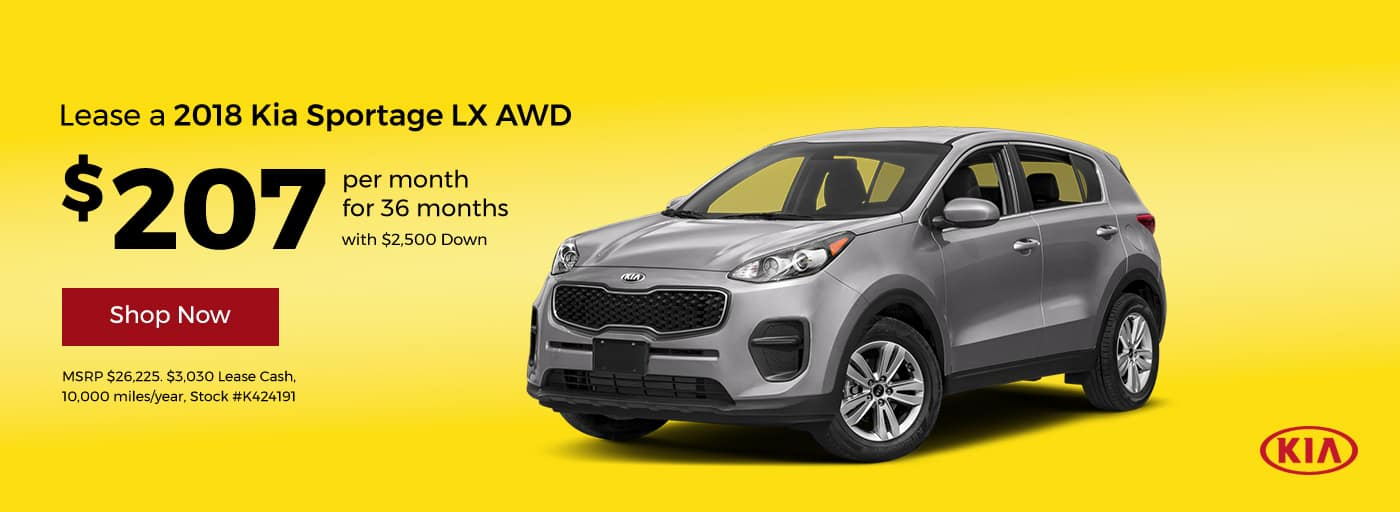 2018 Sportage LX AWD Lease Offer