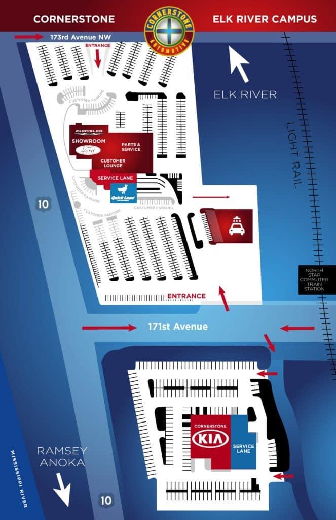 Cornerstone Kia Map