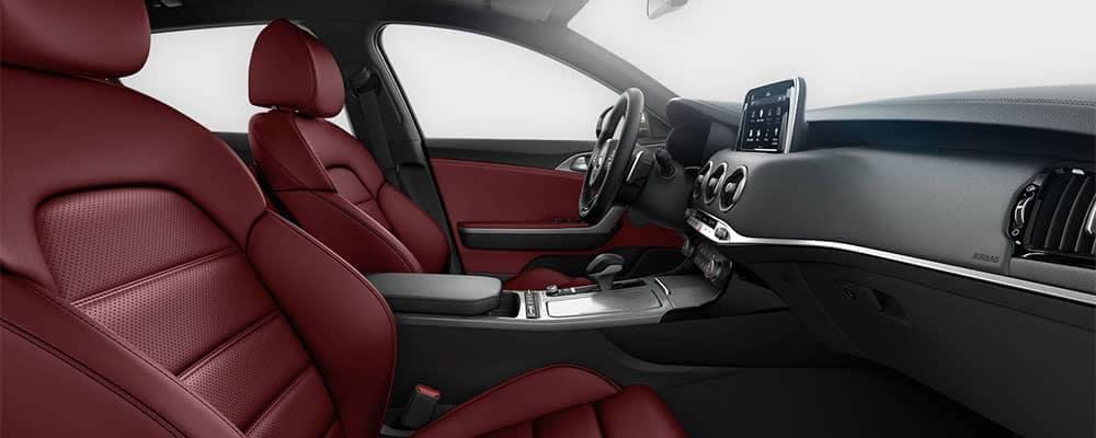 2018 Kia Stinger Interior Red