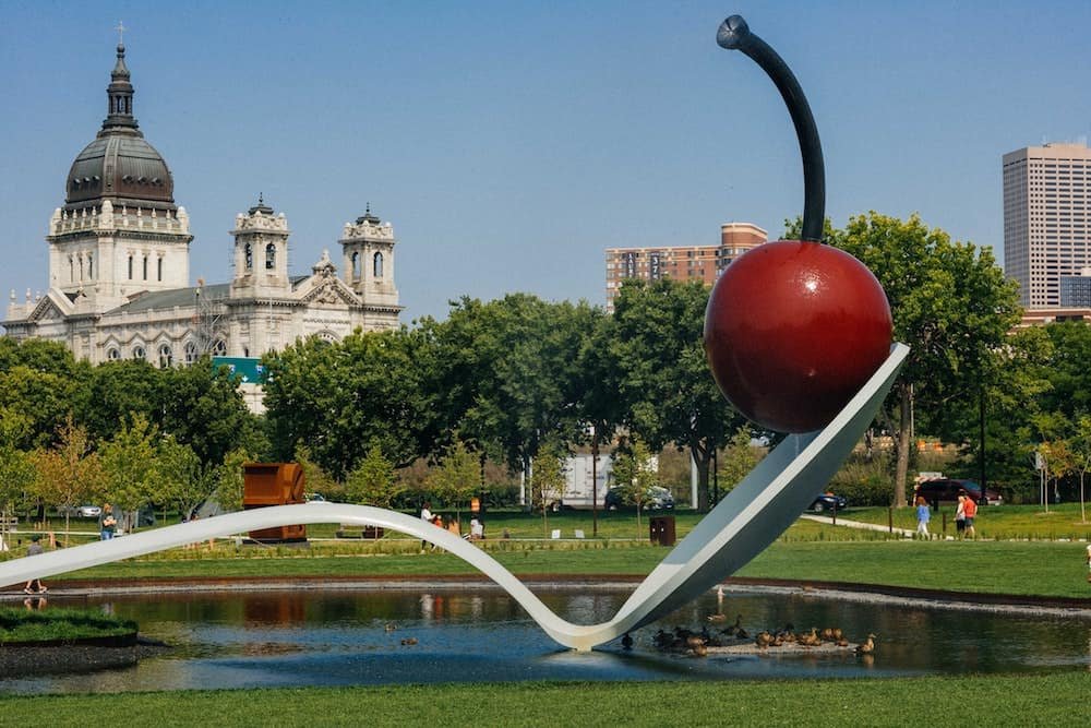 Spoon Bridge and Cherry at Minneapolis Sculpture Garden