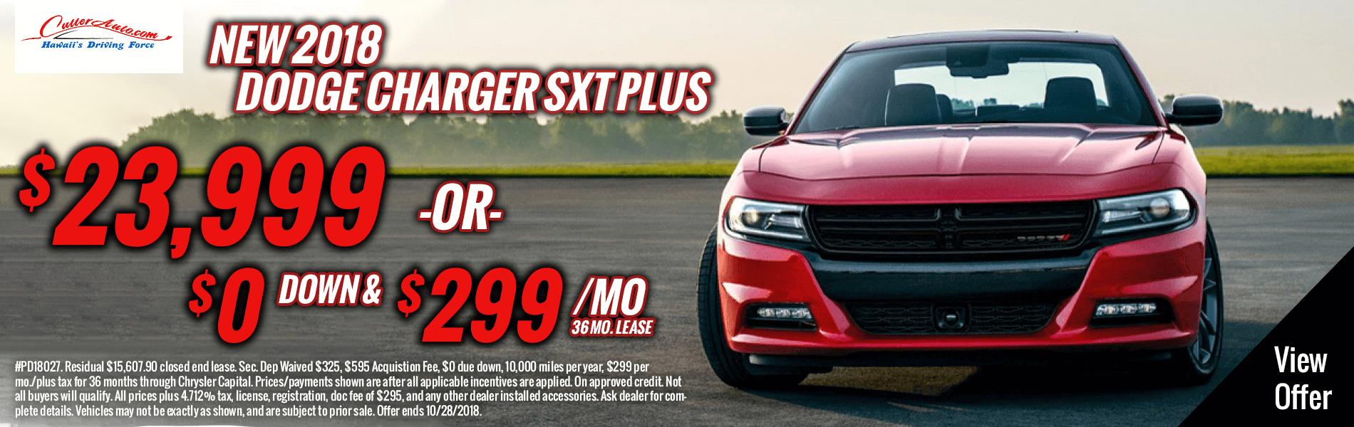 New 2018 Dodge Charger SXT Plus