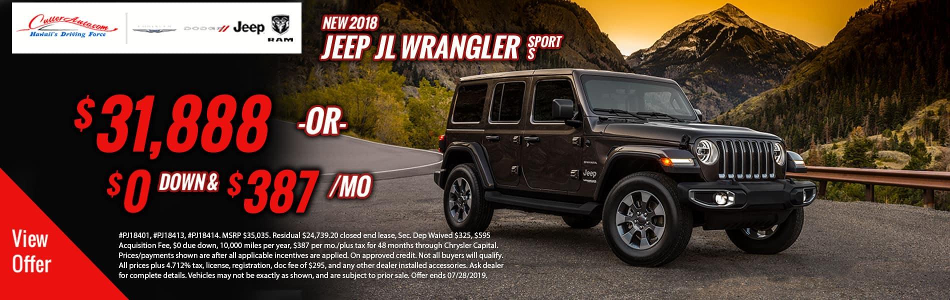 Jeep Wrangler Offer