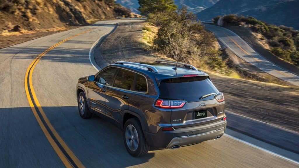 2020 Jeep Cherokee on a mountain pass