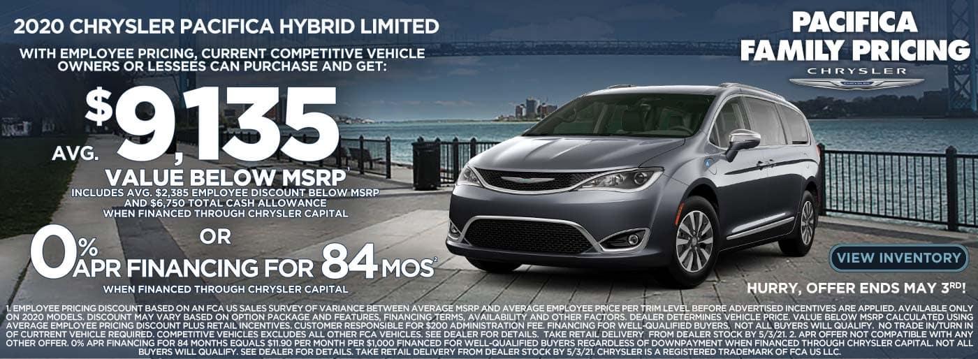 Pacifica Hybrid $9135 TV