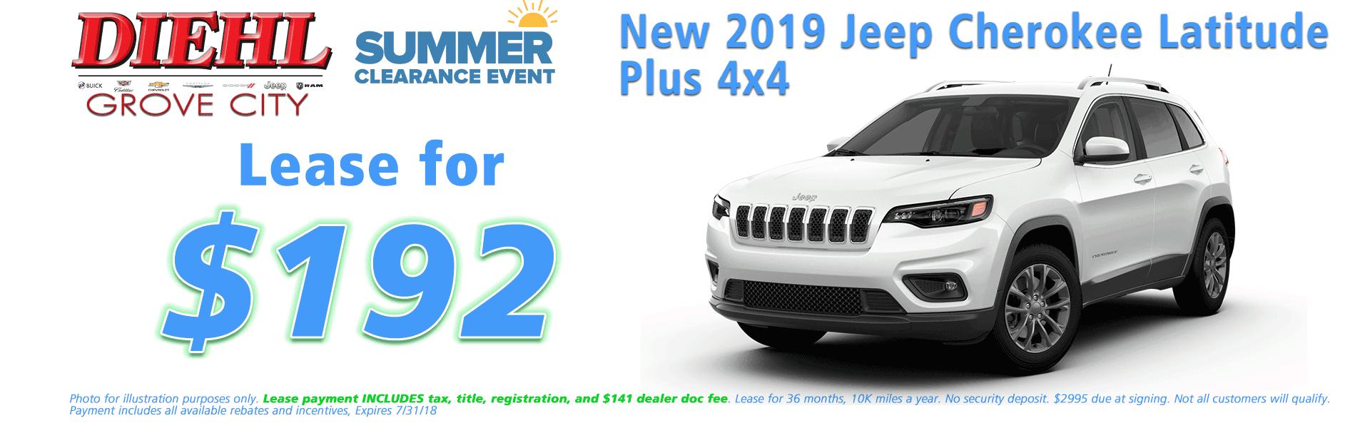 Diehl of Grove City, Grove City, PA 16127 Chrysler Jeep Dodge Ram Chevrolet Buick Cadillac NEW 2019 JEEP CHEROKEE LATITUDE PLUS 4X4