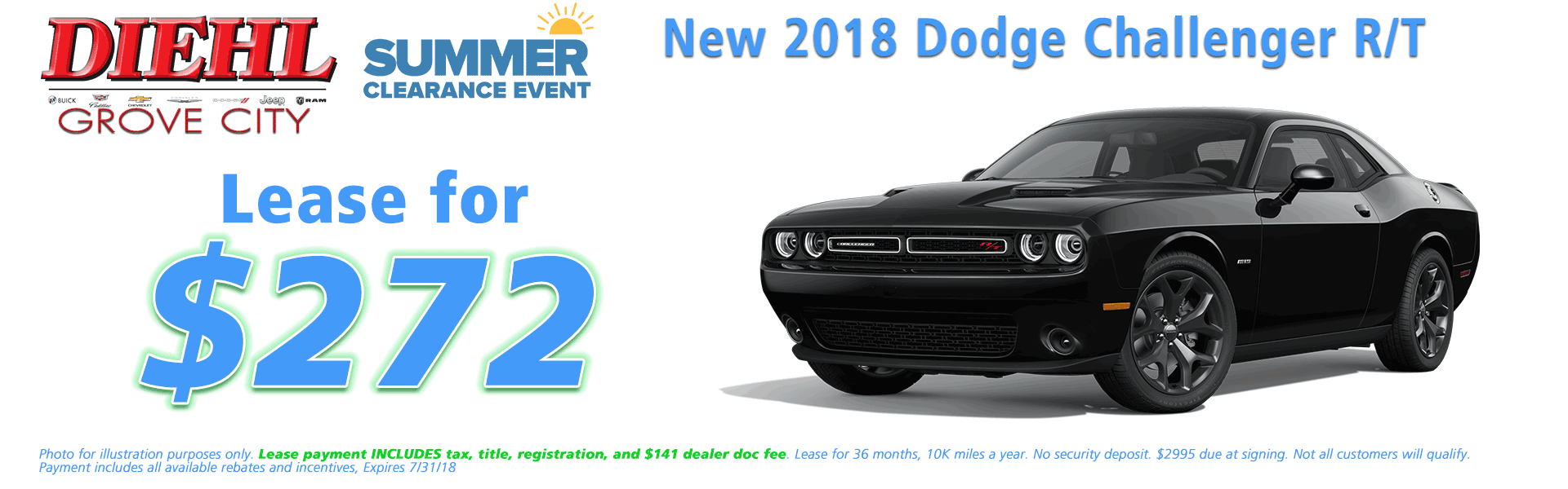 Diehl of Grove City, Grove City, PA 16127 Chrysler Jeep Dodge Ram Chevrolet Buick Cadillac NEW 2018 DODGE CHALLENGER R/T