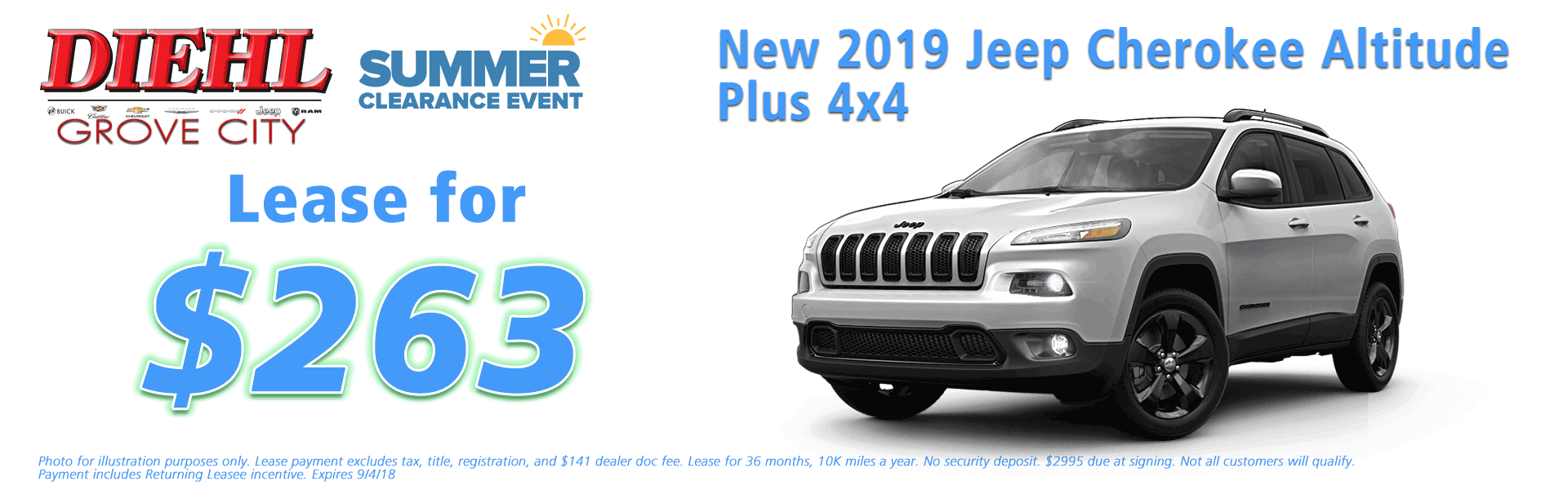 Diehl of Grove City, Grove City, PA 16127 Chrysler Jeep Dodge Ram Chevrolet Buick Cadillac NEW 2019 JEEP CHEROKEE LATITUDE PLUS 4X4