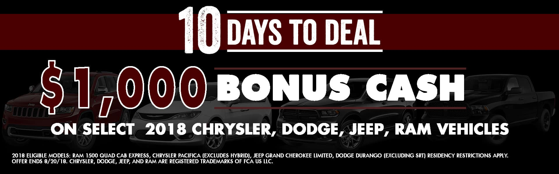 10 days to deal, Diehl of Grove City, Grove City, PA Chrysler Jeep Dodge Ram Durango Pacifica Grand Cherokee Ram