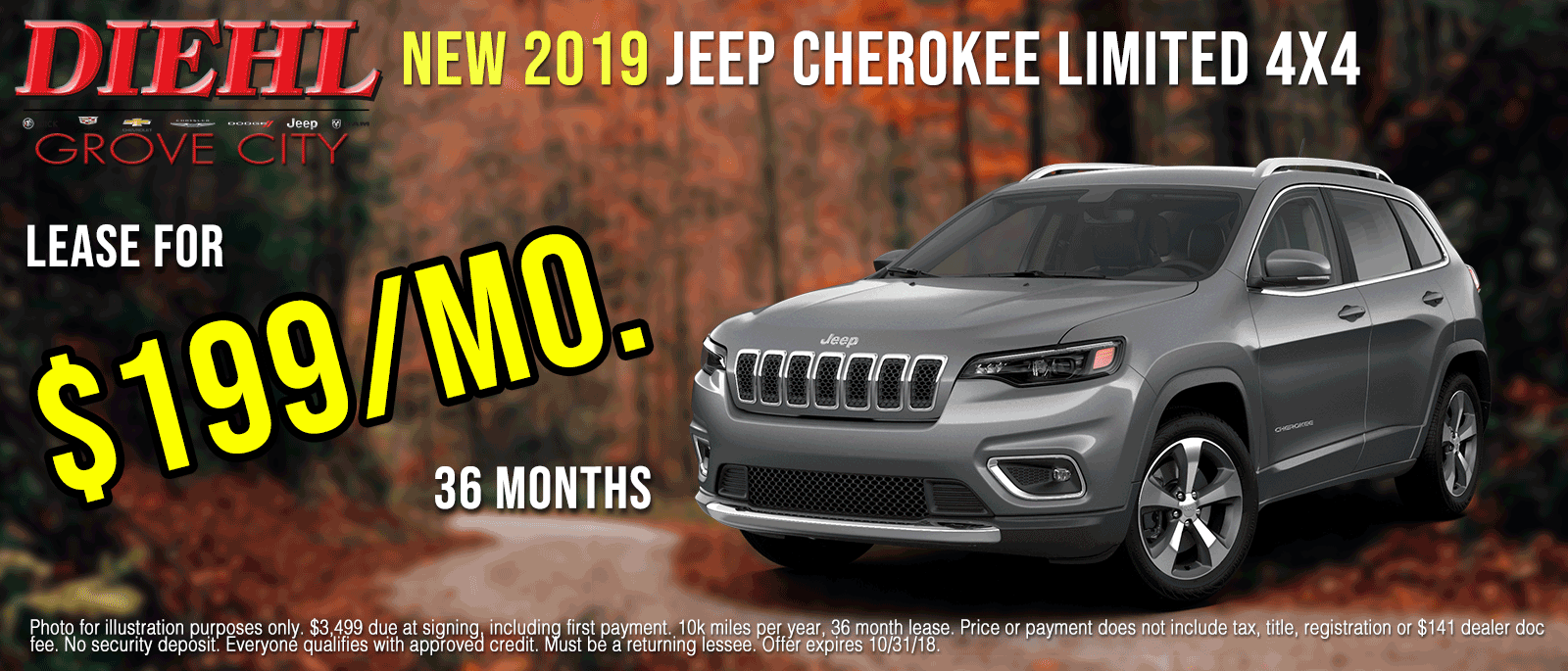 J1093-2019-Jeep-Cherokee-Limited-Oct Grove city new vehicle specials diehl of grove city new vehicle specials jeep specials ram specials dodge specials Chrysler specials new specials cdjr specials diehl auto diehl specials grove city pa