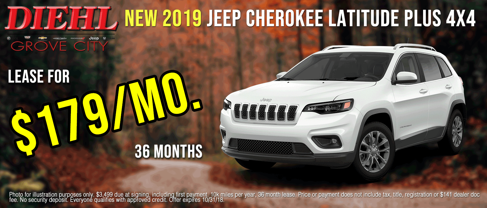 J1128-2019-jeep-Cherokee-latitude-plus-Oct Grove city new vehicle specials diehl of grove city new vehicle specials jeep specials ram specials dodge specials Chrysler specials new specials cdjr specials diehl auto diehl specials grove city pa