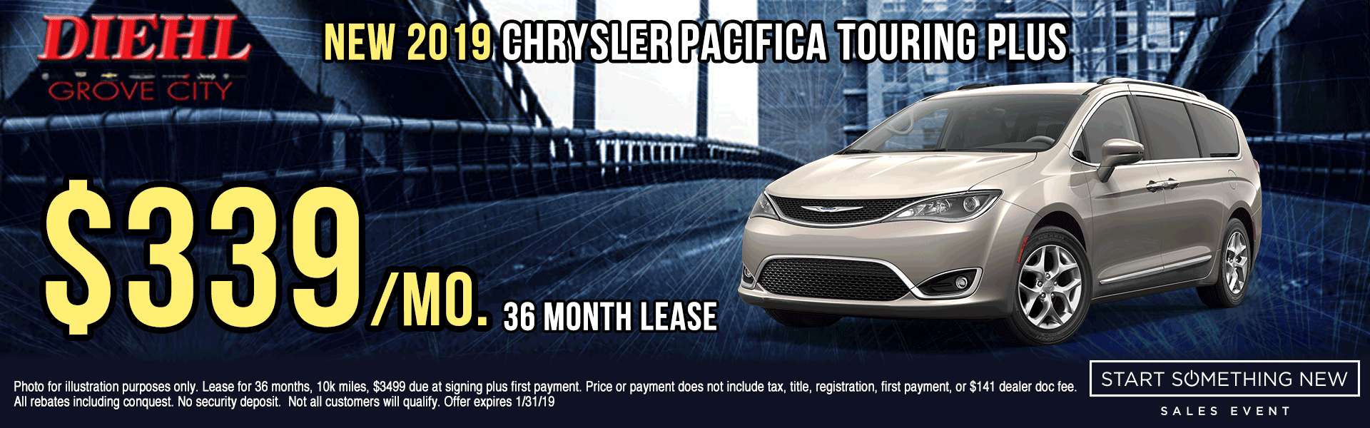 C271---2019-CHRYSLER-PACIFICA-TOURING-PLUS Start Something New Sales Event Chrysler Specials Dodge Specials Jeep Specials RAM Specials grove city specials Diehl specials Diehl Automotive grove city lease specials