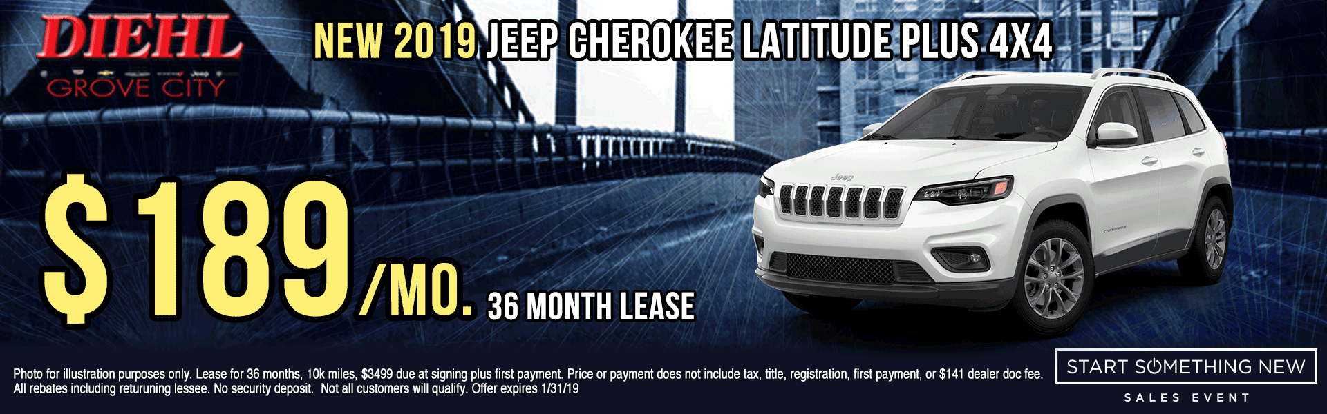 J1349-2019-JEEP-CHEROKEE-LATITUDE-PLUS-4X4 Start Something New Sales Event Chrysler Specials Dodge Specials Jeep Specials RAM Specials grove city specials Diehl specials Diehl Automotive grove city lease specials