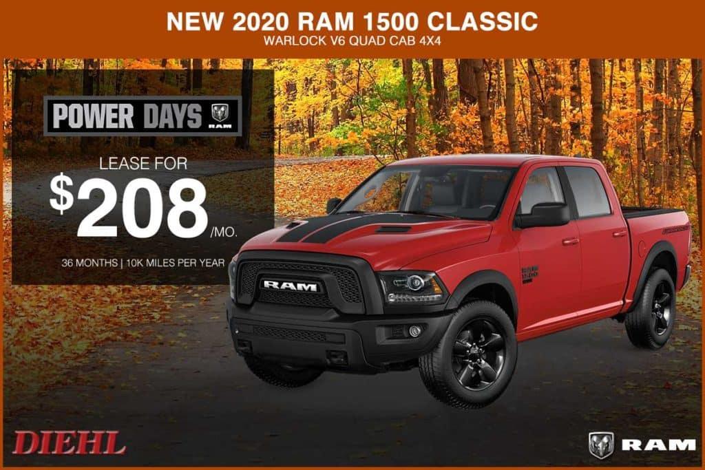 NEW 2020 RAM 1500 CLASSIC WARLOCK V6 QUAD CAB 4X4