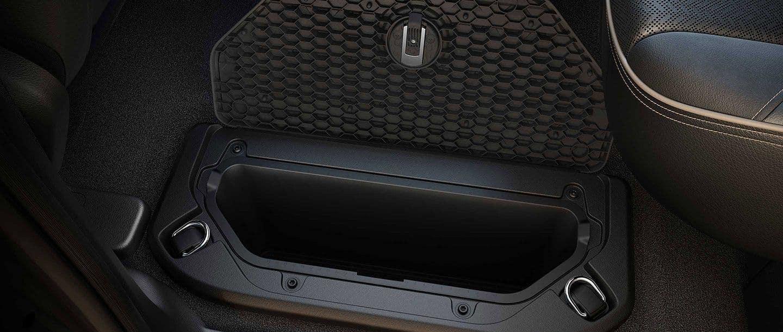 2019 RAM 1500 cargo box in backseat area