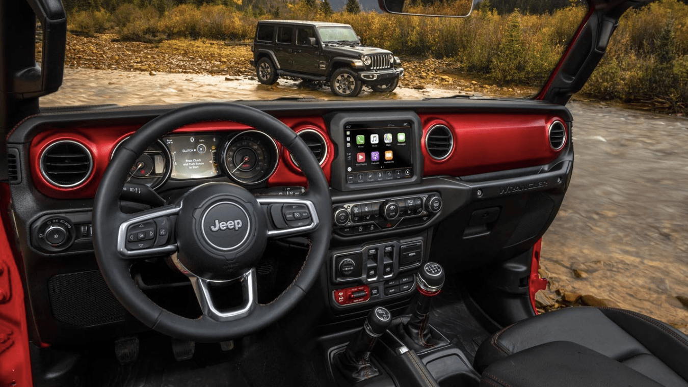 2019 Jeep Wrangler interior with door off frame