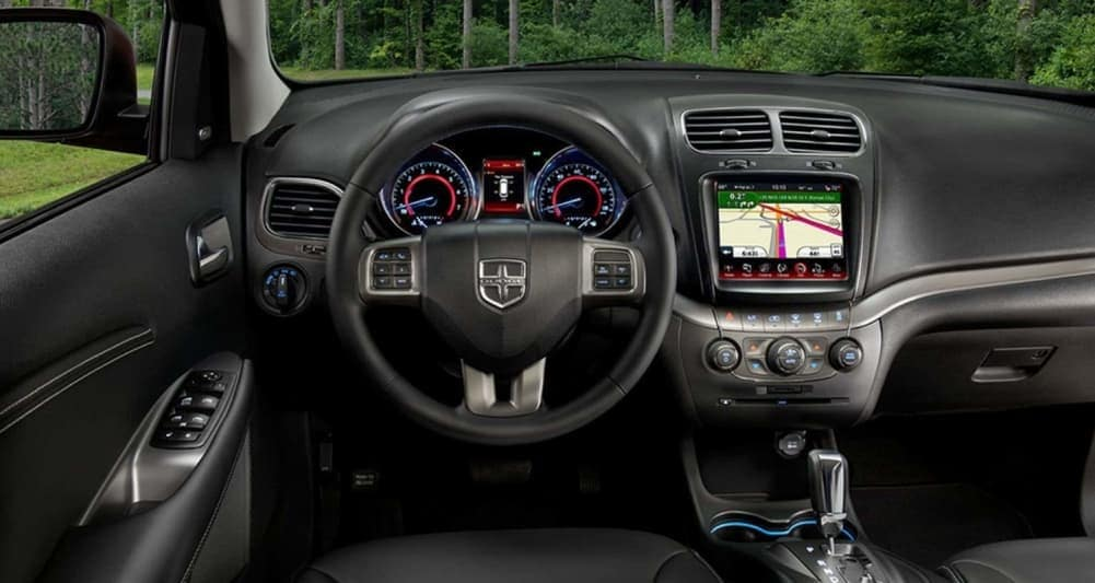 2019 Dodge Journey Crossroad interior dashboard with touchscreen