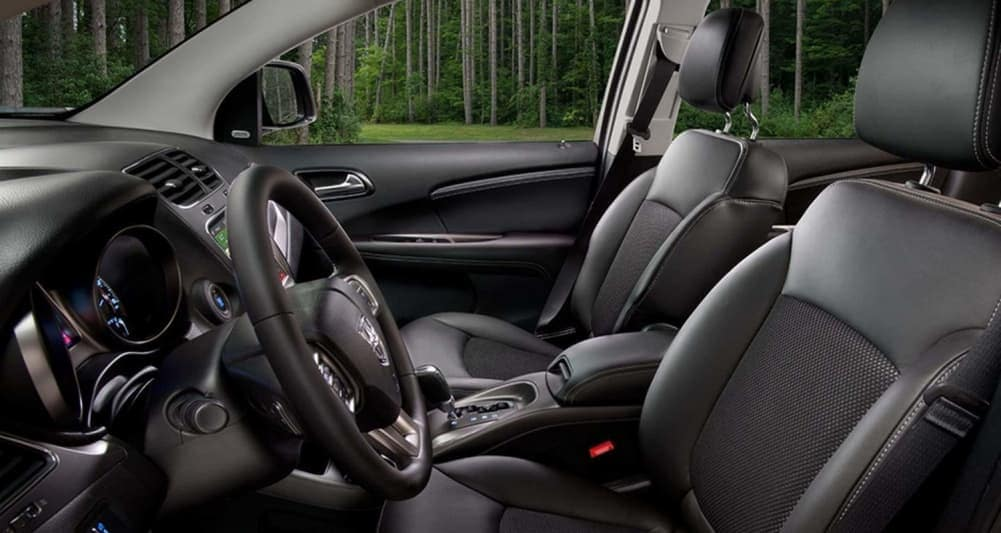 2019 Dodge Journey Crossroad interior in black leather
