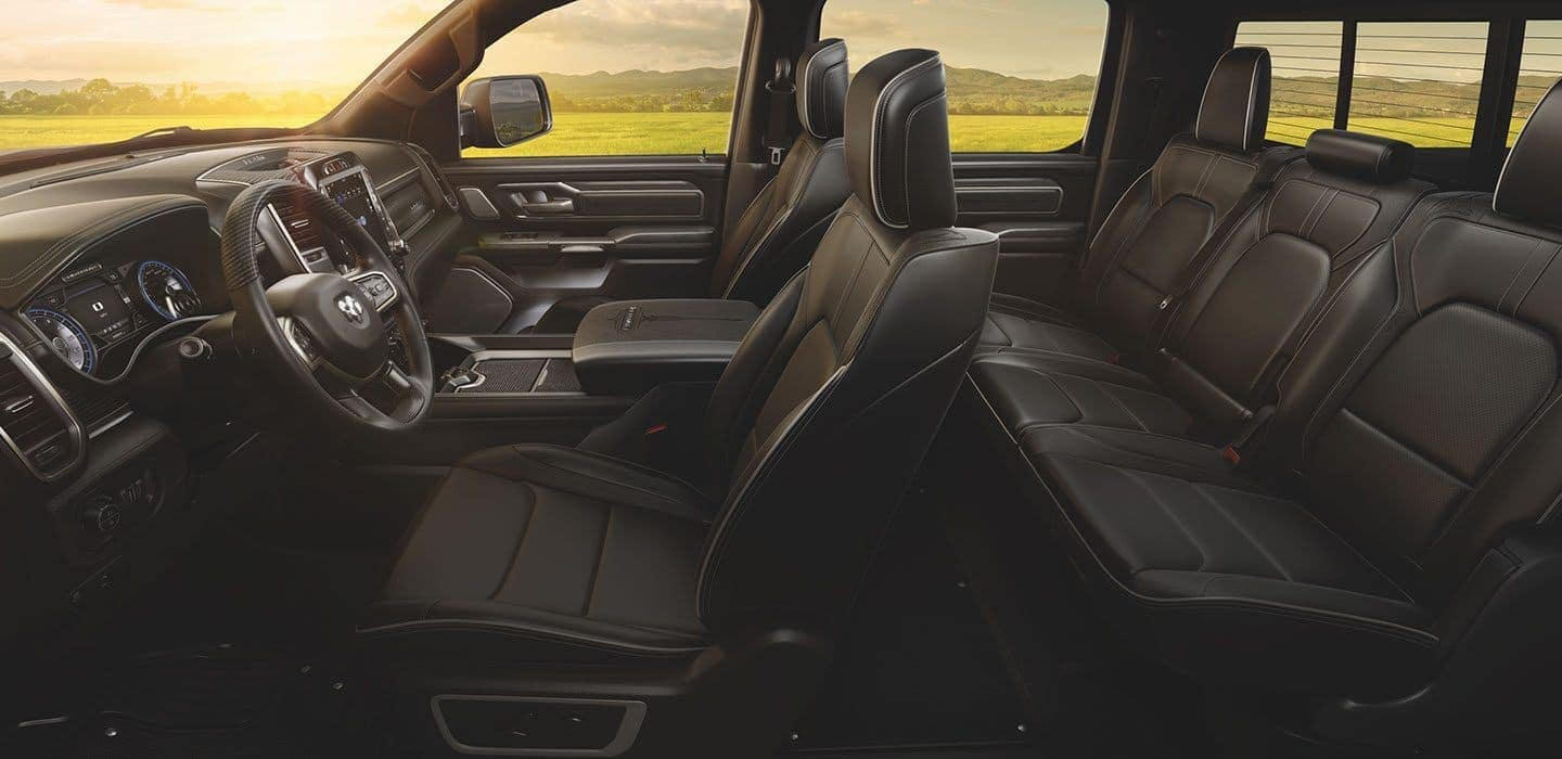 2020 Ram 1500 interior passenger volume with large touchscreen