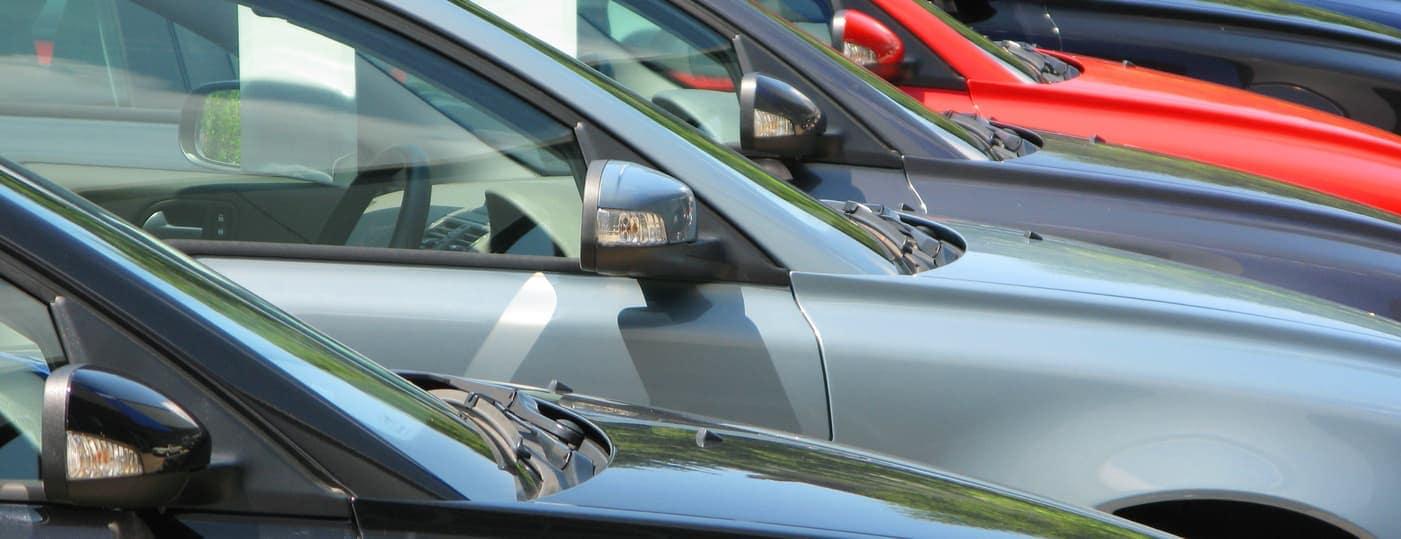 row of used cars