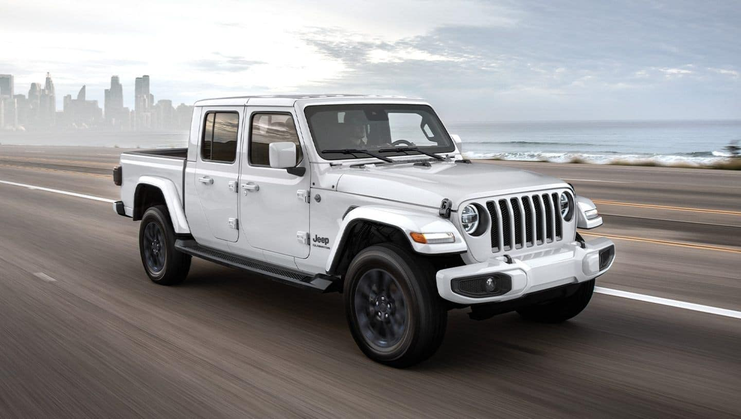 2020 Jeep Gladiator in white driving