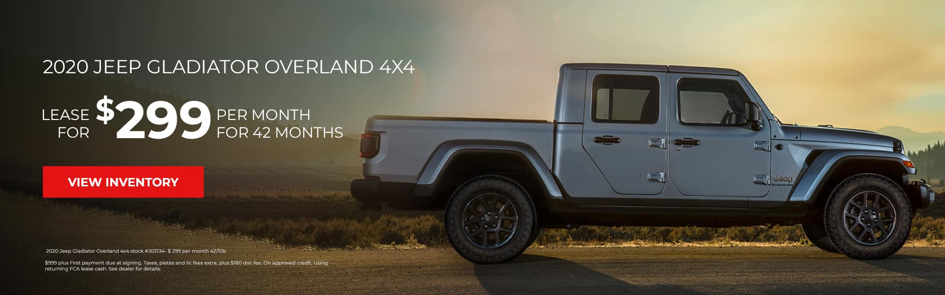 April Lease Special Jeep Gladiator