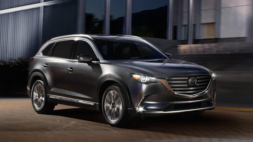 Mazda CX-9 large SUV in grey