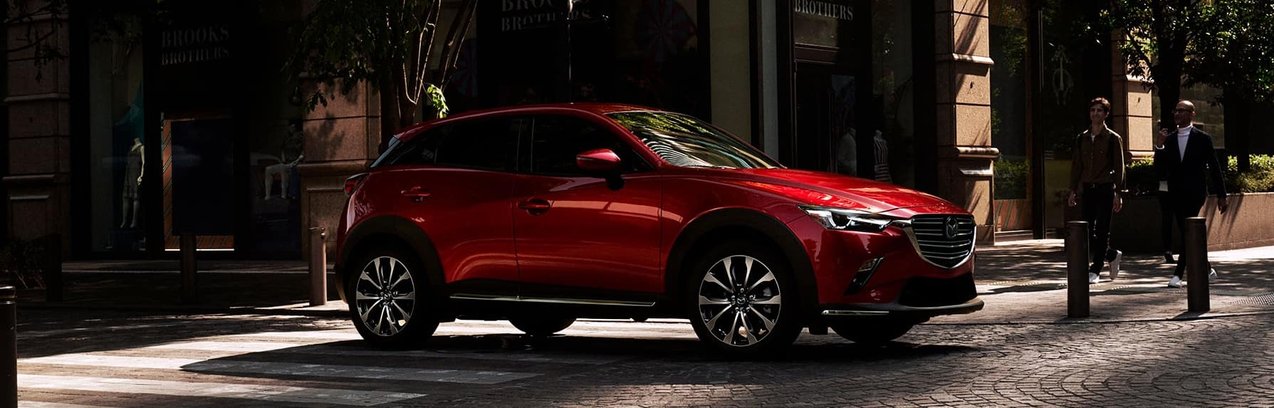 A Red 2019 Mazda CX-3 parked