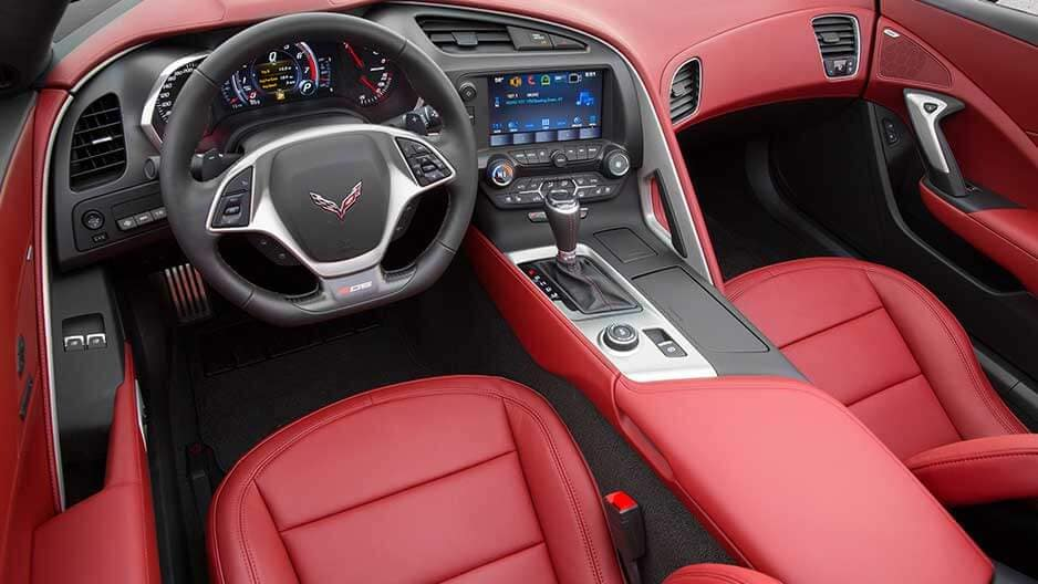 Interior Features of the New Chevrolet Corvette at Garber in Saginaw, MI