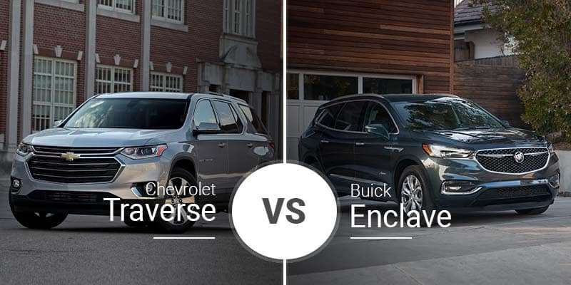 Chevy Traverse Vs  Buick Enclave