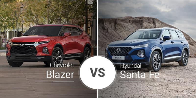 Chevy Blazer Vs  Hyundai Santa Fe