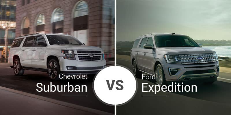 Chevy Suburban Towing Capacity >> Chevy Suburban Vs Ford Expedition