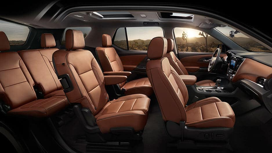 Interior Features of the New Chevrolet Traverse at Garber in Saginaw, MI
