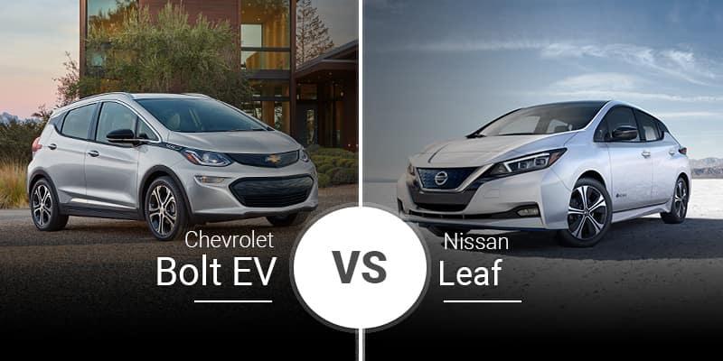 2020 Chevrolet Bolt Ev Vs 2019 Nissan Leaf