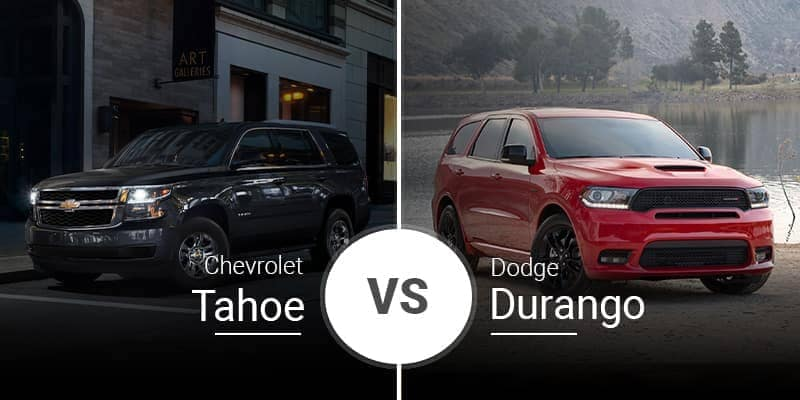 2020 Chevrolet Tahoe Vs. 2020 Dodge Durango
