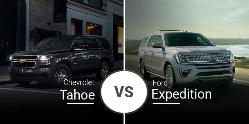 2020 Chevrolet Tahoe Vs. 2020 Ford Expedition