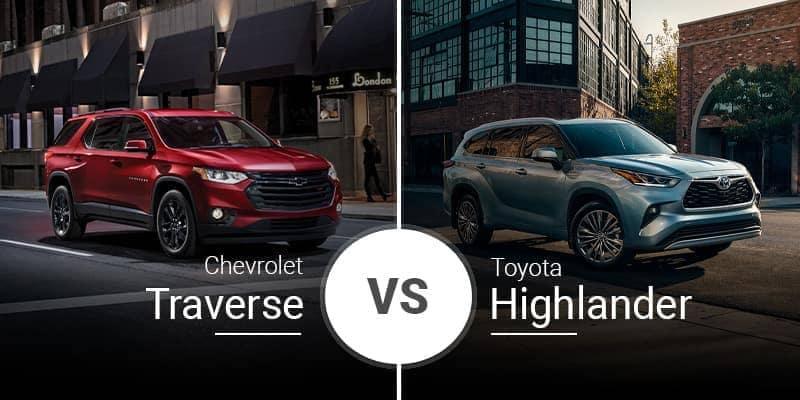 2020 Chevrolet Traverse vs. 2020 Toyota Highlander