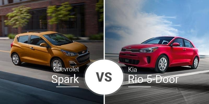 Chevy Spark Vs. Kia Rio 5-Door