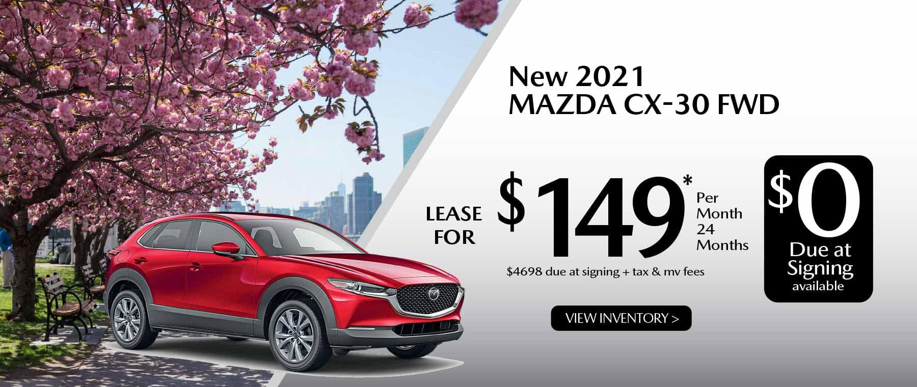 05hi CX-30 New Lease Special Offer Garden City Mazda NY
