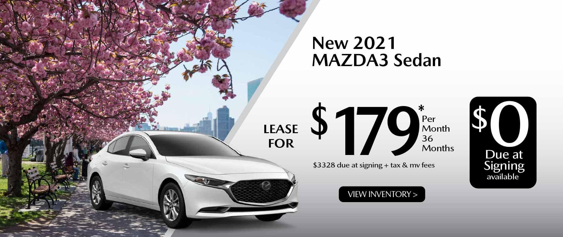05hi MAZDA3 New Lease Special Offer Garden City Mazda NY