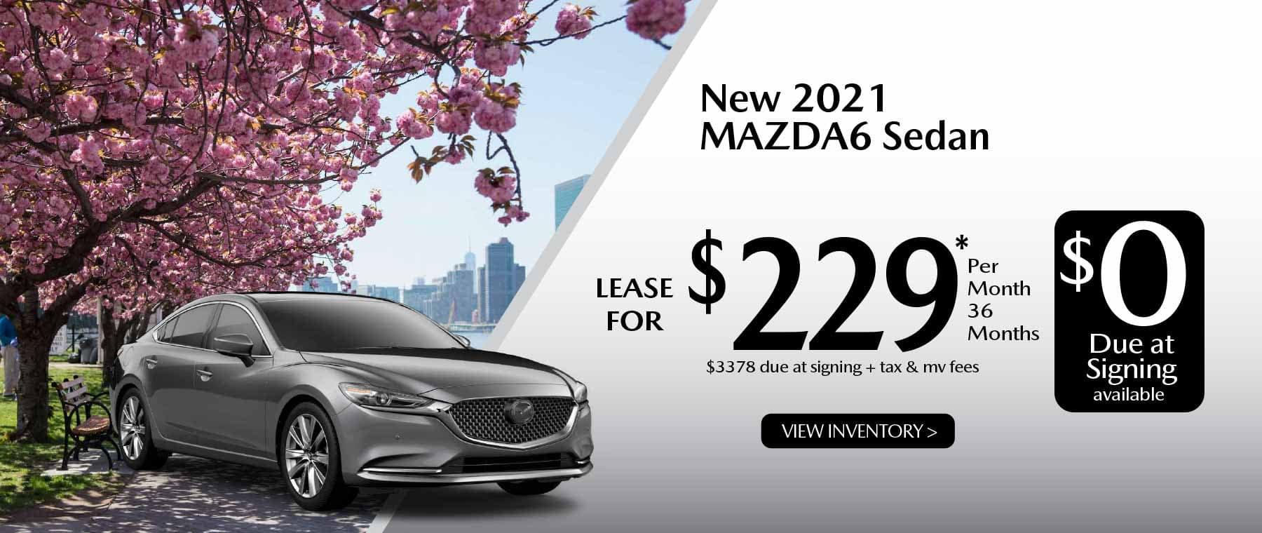 05hi MAZDA6 New Lease Special Offer Garden City Mazda NY