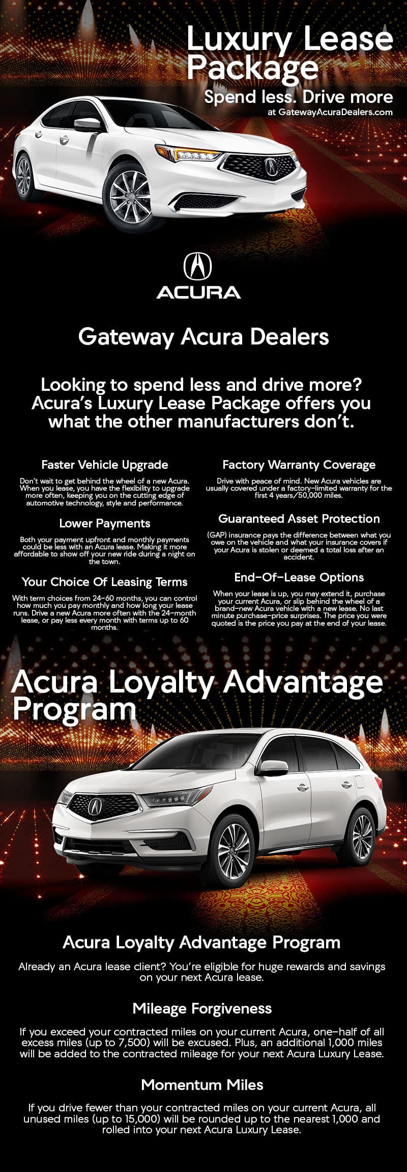 Luxury Lease Package Gateway Area Acura Dealers Acura Loyalty - Lease an acura