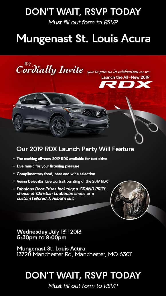 rdx launch party gateway area acura dealers