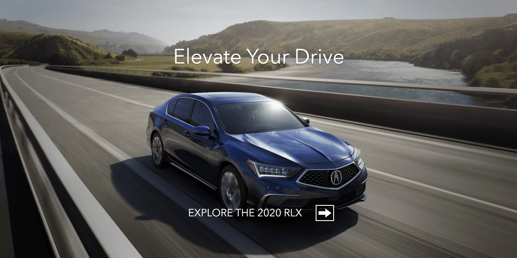 2020 Acura RLX Fathom Blue Pearl Front Angle HP Slide
