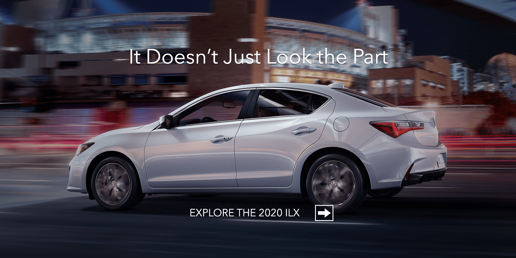 2020 Acura ILX Platinum White Pearl Side Profile